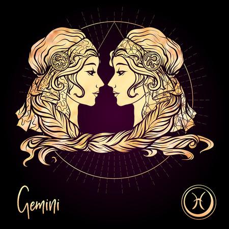Signe du zodiaque. Collection d'horoscope astrologique. Illustration vectorielle Vecteurs