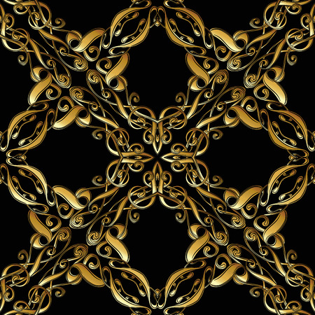 Seamless pattern, background with floral ornament In art nouveau style,