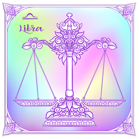 Zodiac sign. Astrological horoscope collection. Vector illustration Foto de archivo - 107698914