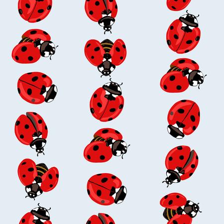 Ladybug seamless pattern, texture.  イラスト・ベクター素材