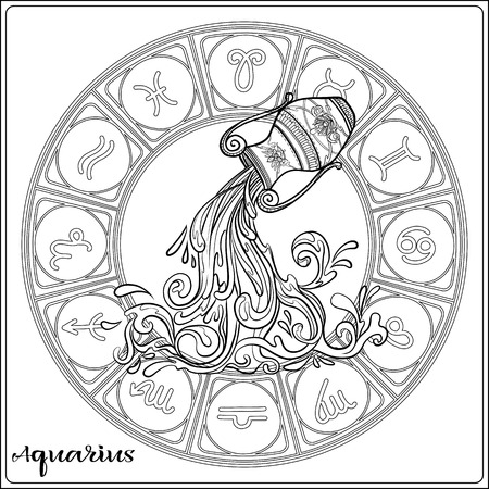 Zodiac sign. Astrological horoscope collection. Vector illustration