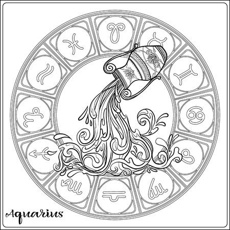 Signe du zodiaque. Collection d'horoscope astrologique. Illustration vectorielle