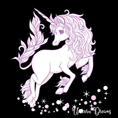 Unicorn. Vector illustration.