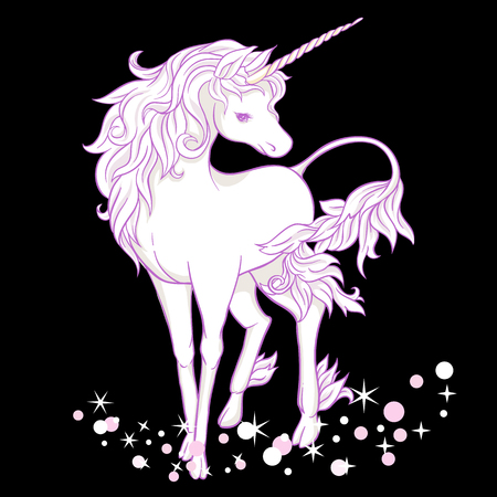 Unicorn. Vector illustration.