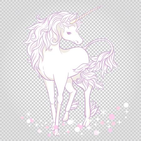 Unicorn. Vector illustration. Archivio Fotografico - 107699203