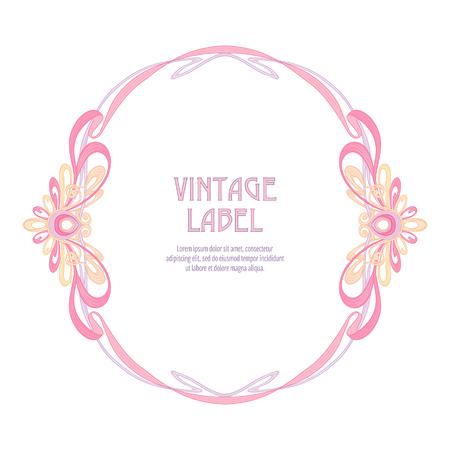 Étiquette pour les produits ou cosmétiques de style art nouveau, vintage, ancien, style rétro.