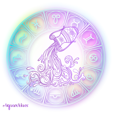 Zodiac sign. Astrological horoscope collection. Vector illustration Stockfoto - 108020794