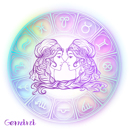 Segno zodiacale. Collezione di oroscopo astrologico. Illustrazione vettoriale Vettoriali
