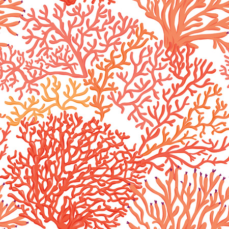Nahtloses Muster der Seewelt, Hintergrund. Stock Vektor-Illustration.