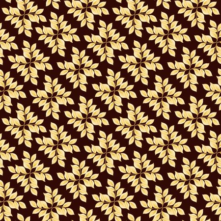 Floral Seamless pattern, background with In art nouveau style, vintage, old, retro style. Colored vector illustration.. Illustration