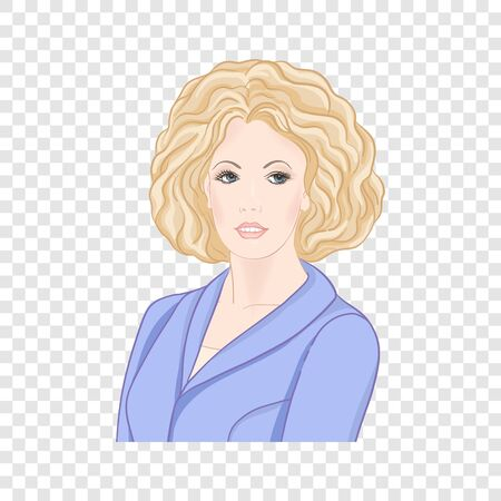 Beautiful woman 30-39 or 40-49, hand drawn portrait, office style hairstyles and clothes, vector line art illustration. Stock Vector - 133160584