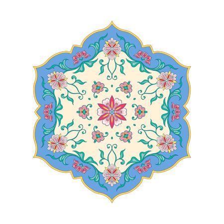 Eastern ethnic motif, traditional muslim ornament. Element for design. Vector illustration