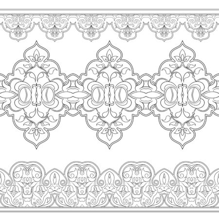 Eastern ethnic motif, traditional muslim ornament. Element for design. Vector illustration
