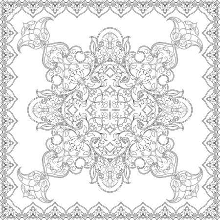 Östliches ethnisches Motiv, traditionelles muslimisches Ornament. Nahtloses Muster, Hintergrund. Vektor-Illustration