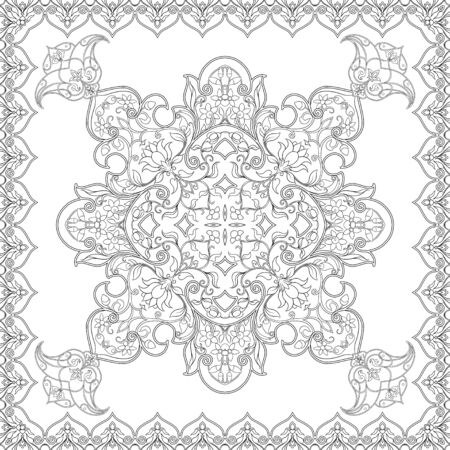 Eastern ethnic motif, traditional muslim ornament. Seamless pattern, background. Vector illustration Illusztráció