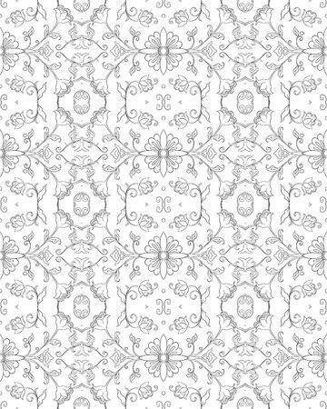 Eastern ethnic motif, traditional muslim ornament. Seamless pattern, background. Vector illustration Ilustração