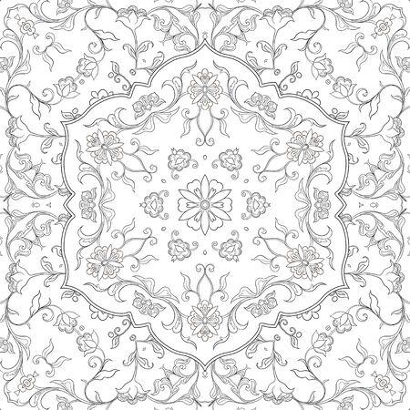 Östliches ethnisches Motiv, traditionelles muslimisches Ornament. Nahtloses Muster, Hintergrund. Vektor-Illustration Vektorgrafik