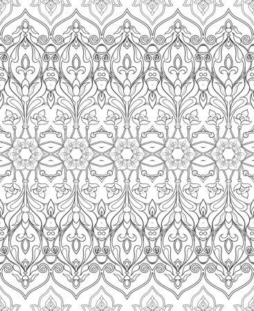Eastern ethnic motif, traditional muslim ornament. Seamless pattern, background. Vector illustration 向量圖像