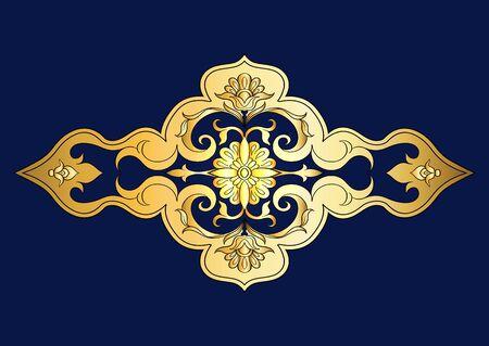 Östliches ethnisches Motiv, traditionelles muslimisches Ornament. Element für Design. Vektor-Illustration
