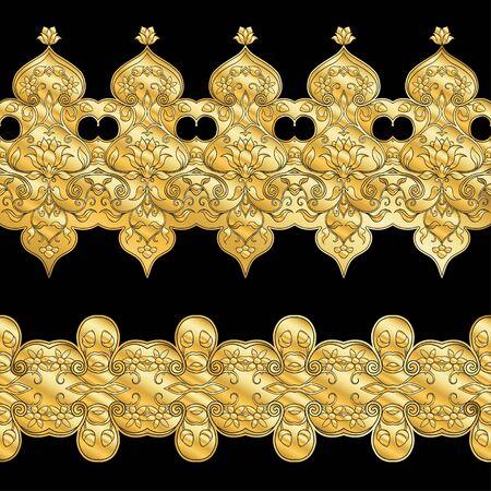 Eastern ethnic motif, traditional muslim ornament. Element for design. Vector illustration 스톡 콘텐츠 - 133930315