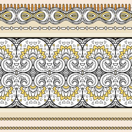 Seamless pattern, background with traditional paisley.