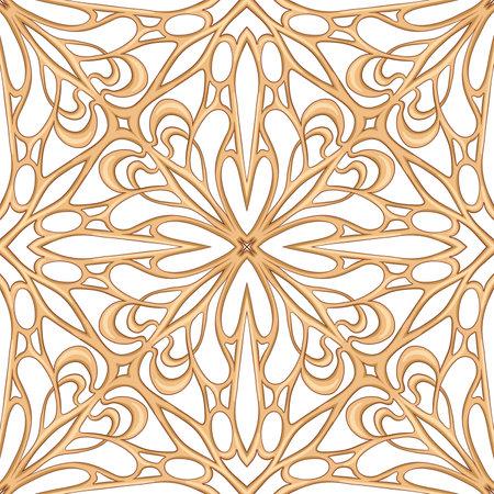 Seamless pattern, background. Colored vector illustration in art nouveau style, vintage, old, retro style. Isolated on white background.. Vektoros illusztráció