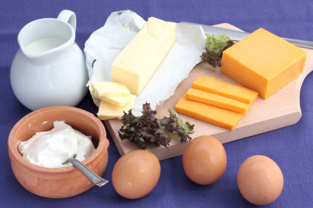 dairy: Dairy products Stock Photo
