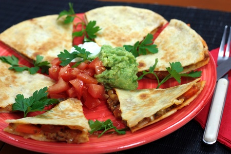 mincemeat: Mexican quesadillas Stock Photo