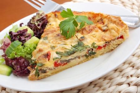 pie: Vegetable quiche