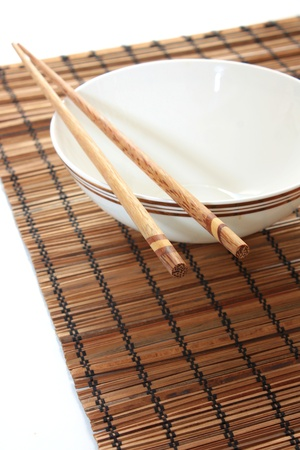 Chinese bowl and chopsticks Stock Photo - 11699266