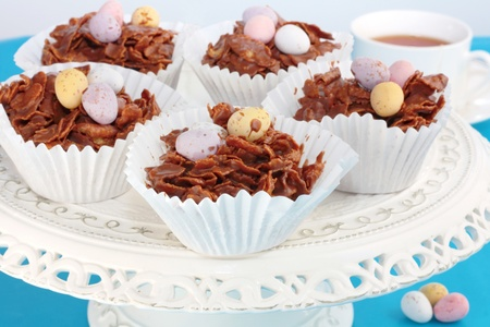 Easter Chocolate Crispy Cakes