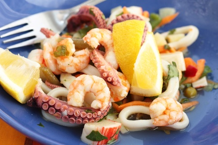 Seafood salad photo