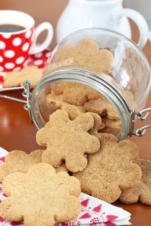 Homemade butter cookies photo