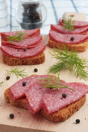 Salami appetizer photo