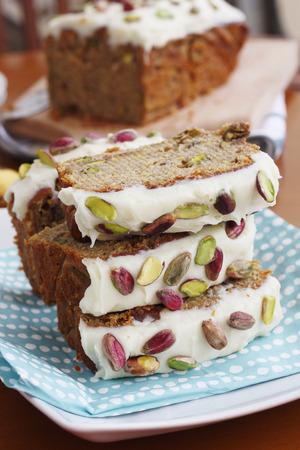 banana pistachio loaf