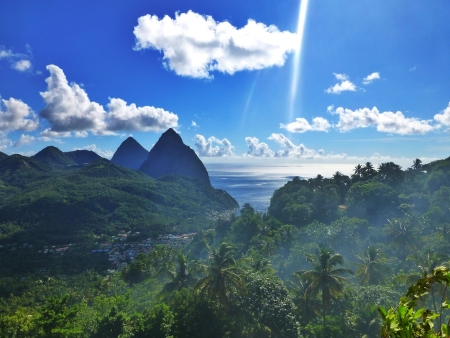 st lucia: The Pitons, St Lucia