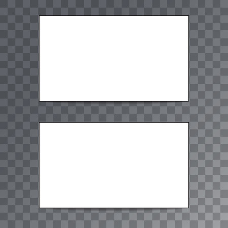 credential: Empty template business card isolated on transparent background.