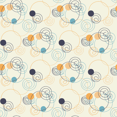 dos: Circle pattern. Modern stylish texture. Repeating dos round abstract background for wall paper. Flat minimalistic design.