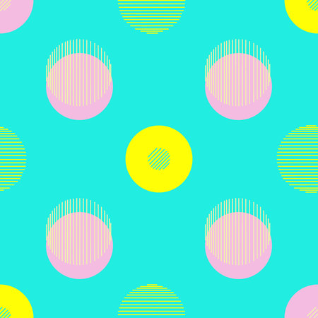 Circle pattern. Modern stylish texture. Repeating dots round abstract background for wall paper. Flat minimalistic design. Illustration