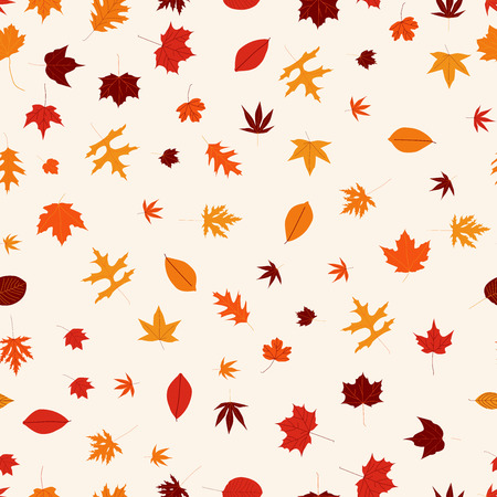 autumn motif: Seamless pattern with colorful autumn leaves.