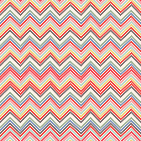 Fashion zigzag pattern in retro colors, seamless background