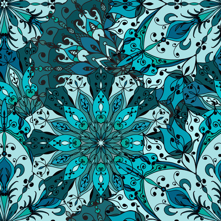 Set of Snowflake Patterns - Snowflake patterns. Snowflakes are grouped in one layer for easy editing.