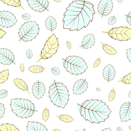 Falling autumn leaves of pastel color. A seamless pattern for any design.
