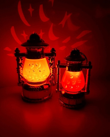 Romantic flashlights Фото со стока