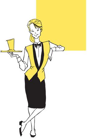 job series -waitress Vector