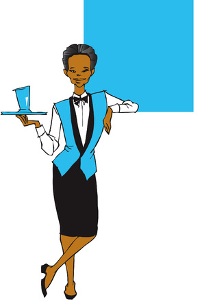 african woman at work: job series -waitress