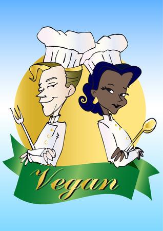 vegan/vegetarian series Illustration