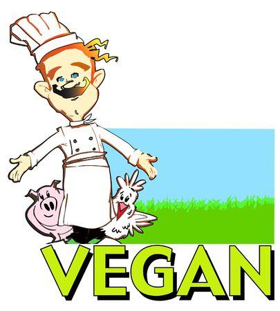 job series - vegan vegetarian cook Stock Photo - 2056808