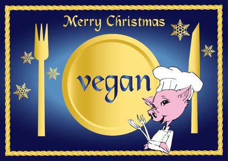 vegan/vegetarian series - Christmas Stock Vector - 2044916