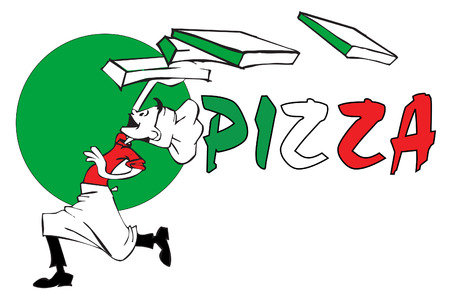 job series - pizzaiolo Illustration